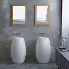 tikamoon white terrazzo washbasin sink vase pedestal bowl design