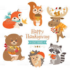 thanksgiving forest animals stock vector 610117376 istock