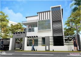 Home Design Plans Modern 1600 Sq Feet Contemporary Modern Home Design Kerala Home Design