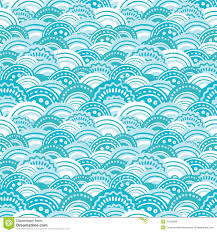 abstract blue waves seamless pattern background stock images