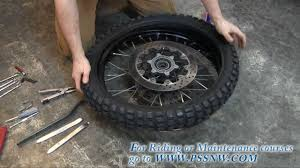 Adventure Motorcycle Tires How To Change A Motorcycle Tire On The Road Youtube