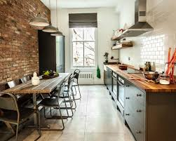 Industrial Kitchen Backsplash by 15 Best Industrial Kitchen With Subway Tile Backsplash Ideas