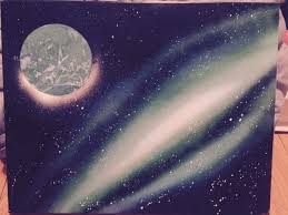 Spray Paint Artist - galaxy spray paint art 4 steps with pictures