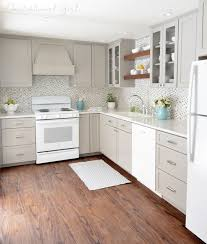 gray kitchen cabinets white appliances white appliances as a design feature in the kitchen