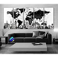 home interior framed amazon com xlarge 30 x 70 5 panels 30x14 ea canvas print