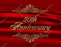 50th wedding anniversary invitation red u2014 stock photo irisangel