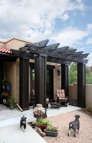 entry courtyard for a santa fe style home u2014 evstudio architect