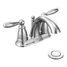 moen 6610 brantford two handle low arc bathroom faucet with drain