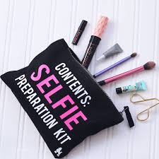 makeup bag selfie preparation kit make up bag by rock on ruby