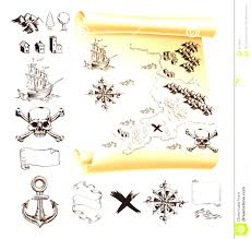 Make Your Own Map Treasure Map Clipart Kit Stock Vector Image Example Design