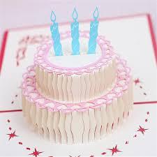 aliexpress buy 5pcs happy birthday cake 3d laser cut pop up