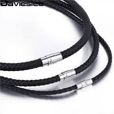 braided leather necklace images Thin brown black braided cord rope man made leather necklace for jpg