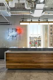 Office Kitchen Design Exposed Brick Walls U0026 Concrete Define The New Yelp Headquarters