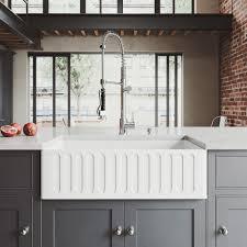 C Kitchen With Sink Vigo All In One Matte Farmhouse 33 In 0 Kitchen Sink