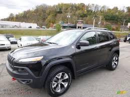 jeep cherokee black 2015 2015 jeep cherokee trailhawk 4x4 in brilliant black crystal pearl