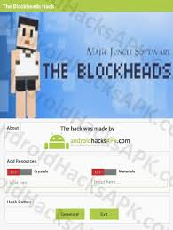 block heads apk the blockheads hack apk crystals and materials