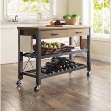 kitchen elegant kitchen island cart industrial wheels 845348658