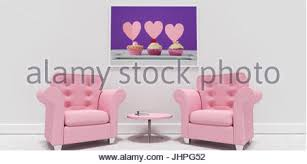 Pink Armchairs Cupcakes Arranged In A Heart Shape Stock Photo Royalty Free Image