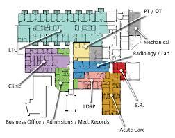 floor plan of hospital hospital map stanton county hospital