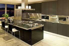 Kitchens With Stainless Steel Backsplash Contemporary Steel Countertops Shiny Metal Accents In The Kitchen