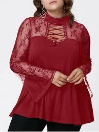 see thru blouse pics plus size flare sleeve criss cross see thru blouse plus size