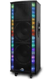 bluetooth party speakers with lights dolphin sp 213bt professional dual 10 bluetooth party speaker with