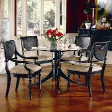 largo heritage five piece round dining table and chair set