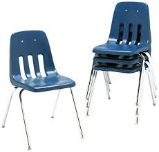 Plastic Stackable Chairs Amazon Com Virco Student Chair Navy Soft Plastic Shell 16
