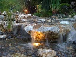 Outdoor Water Features With Lights by Water Features John U0027s Landscaping