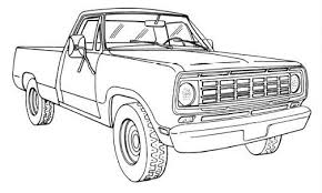 dodge truck coloring pages truck coloring pages