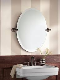 bathroom tilt mirrors amazon com moen dn0892orb gilcrest bathroom oval tilting mirror