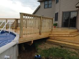 decks in hamilton ontario the fence guy backyard wood deck with