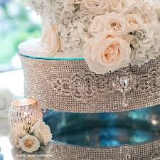 rhinestone cake cake stands glow concepts linen rental
