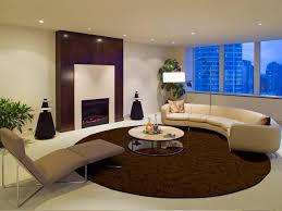 living room rugs on carpet round mirror on the wall between frame