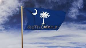 South Carolina Flags South Carolina Flag With Title Waving In The Wind Looping Sun