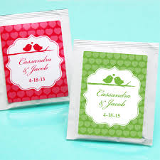 tea bag party favors birds personalized tea bag favor birds wedding favors