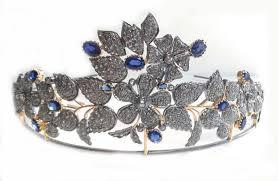 tiaras for sale tiaras for sale 6 9 ct diamond blue sapphire silver tiara