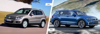 old diesel volkswagen volkswagen tiguan old vs new compared carwow