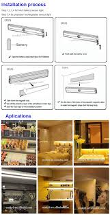 Battery Operated Under Cabinet Lighting by Led Closet Motion Sensor Light Battery Operate Auto Switch Under
