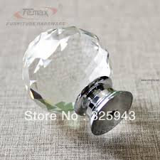 Door Knob Type 2x40mm Clear Round Glass Cabinet Drawer Crystal Knobs And Handles