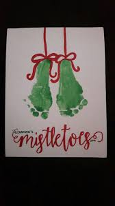 best 25 mistletoe footprint ideas on pinterest mistletoe craft