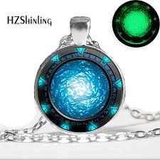 glass necklace pendant images Glow in the dark necklace pendants stargate portal atlantis jpg