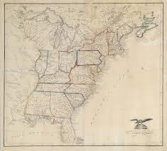 A Picture Of The Map Of The United States by 19th Century Schoolgirls Were Incredibly Good At Drawing Maps