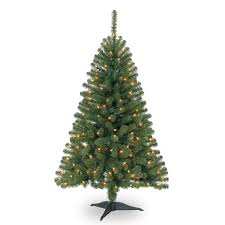 4 ft pre lit hillside pine artificial tree clear
