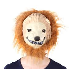 halloween costumes big lion king terrorist animal mask dress up