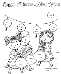 chinese new year coloring pages for preschool chinese new year