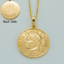 vatican jewelry anniyo coin necklaces gold color jewelry women catholic vatican