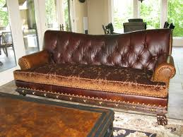 Fabric Leather Sofa Leather Sofa With Fabric Cushions Radiovannes