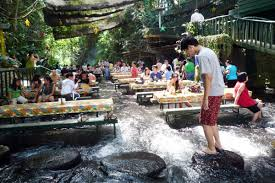 Villa Escudero A Restaurant In The Middle Of A Waterfall