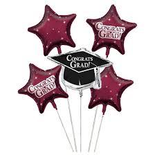 metallic balloons burgundy graduation party metallic balloons target